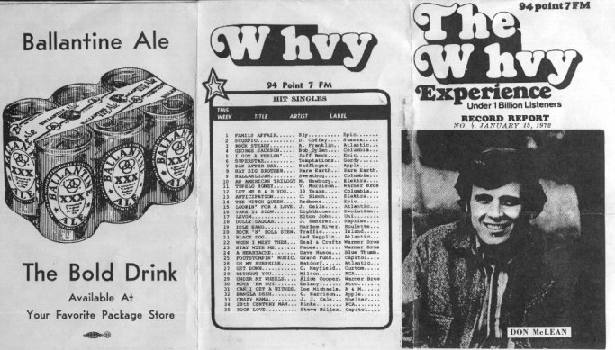 WHVY Survey - 1/15/72 - side 1